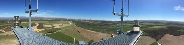 Panoramic view from nacelle (Image: Francesc Rosell)