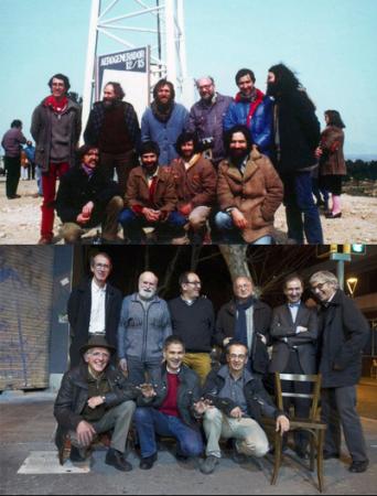 Pioneros del primer molino de viento de Espanya