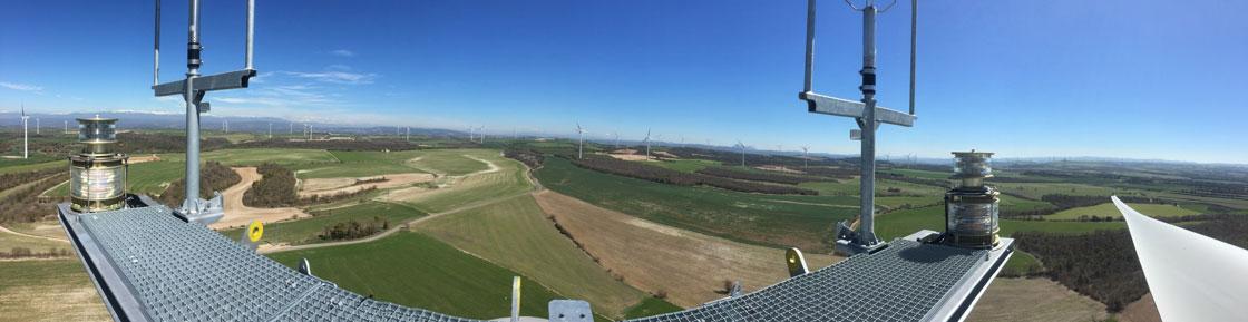 Vista panorámica desde la góndola (Foto: Francesc Rosell)